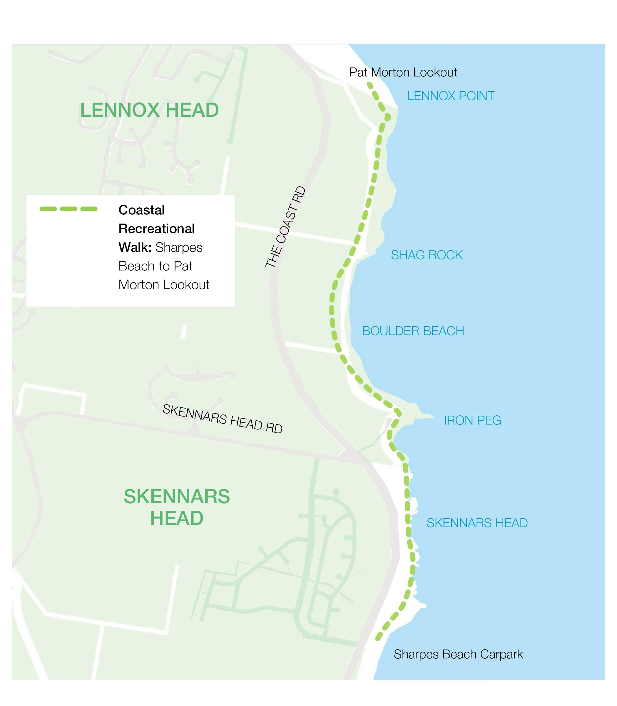 Coastal recreation walk map