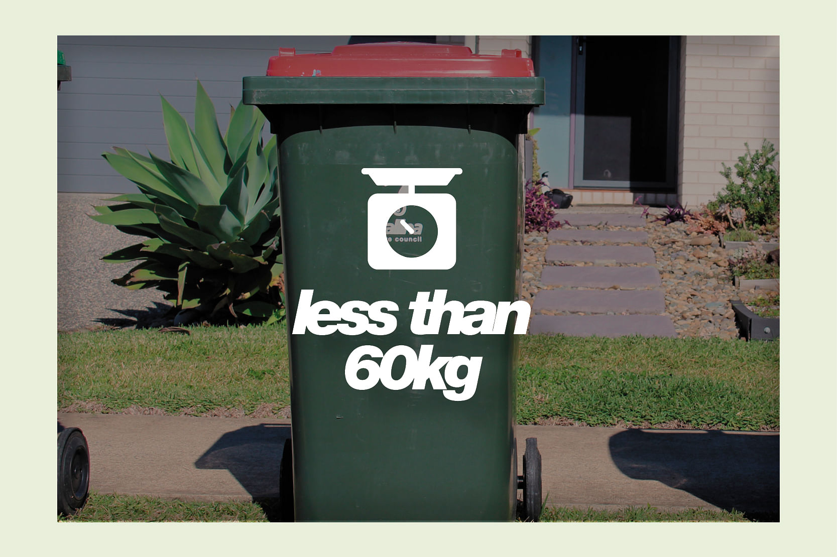 Bins need to be under 60kg in weight