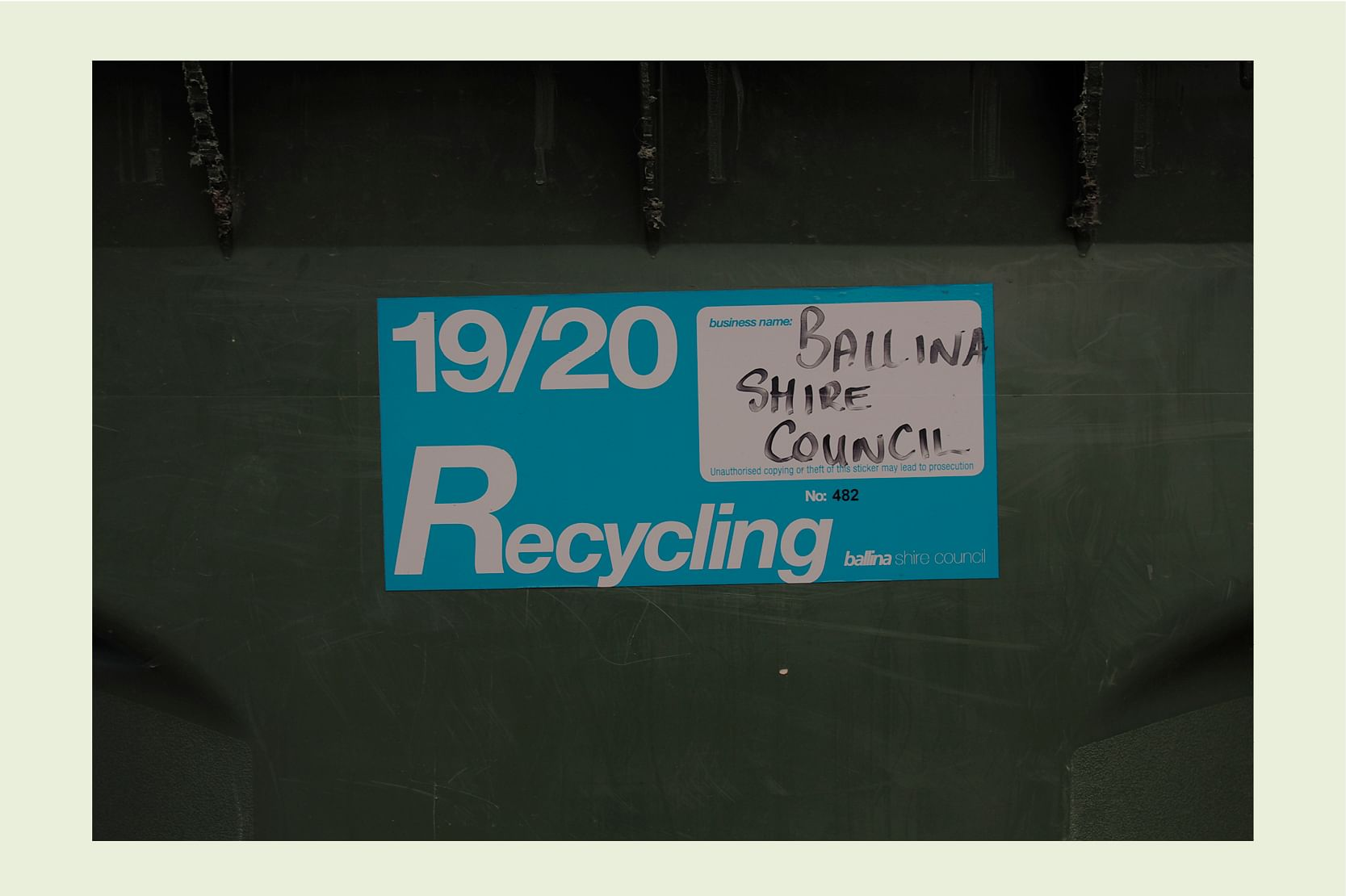 Commercial waste stickers image